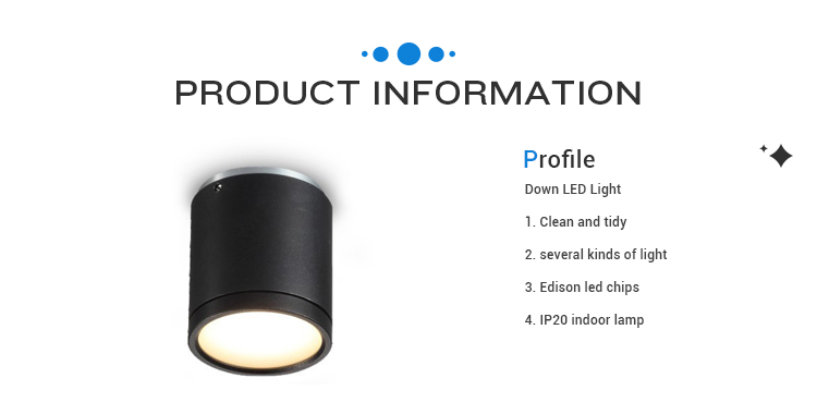 INNOVALIGHT 5W black COB cylinder shape surface mounted LED downlight