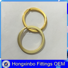 Hongxinbo Fittings Cheap plain metal key ring gold color flat key ring