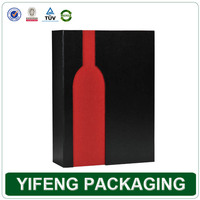 luxury single bottle old wine box