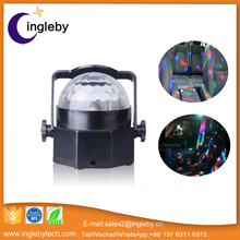 Newest mood lghting 3W LED Mini Fashion Rotating Disco KTV Bar Party Stage LED RGB Crystal Ball laser Light With Remote Control