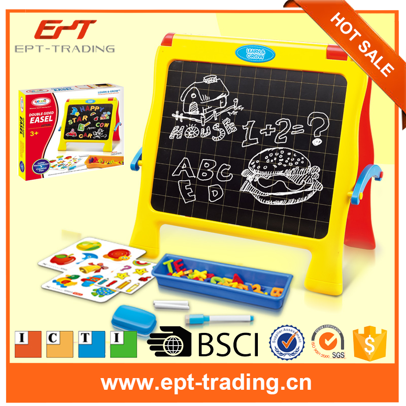 2017 New trend kids educational toy creative double sided drawing board learning toy with cheap price