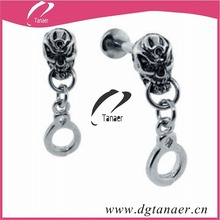 fashion punk style skeleton lip ring