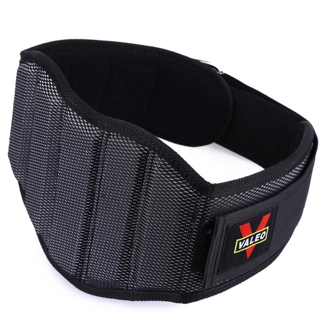 VALEO Sponge Durable Nylon Weight Lifting Squat Belt Protect Lumbar Back Waist for Fitness Training
