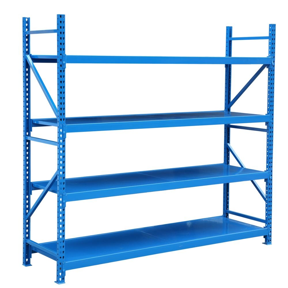 Warehouse storage system industrial metal shelving bulk <strong>rack</strong> longspan wide span shelving 300kgs/level tear drop medium size <strong>rack</strong>