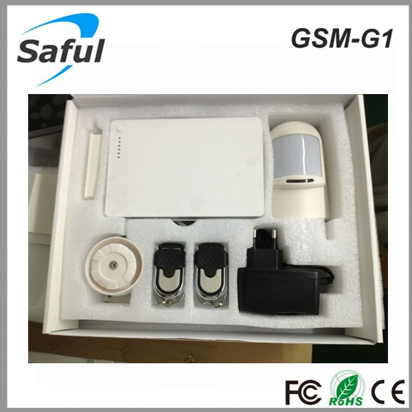 outdoor motion sensor alarm gsm sms home burglar security alarm system 315MHz/433MHz Saful GSM-G1