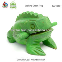 Wooden Frogs Green color handmade musical instrument