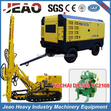 100% ORIGINAL FACTORY -JBP150A (MEDIUM TO HIGH AIR PRESSURE)CRAWLER MOUNTED DTH QUARRY DRILLING EQUIPMENT
