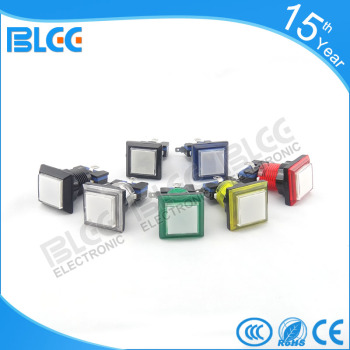 Wholesale price of plastic round illuminated push button switch with led lighted for arcade cabinet