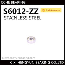 Deep Groove Ball Bearing S6012-2RS 60*95*18mm Stainless Steel Bearing