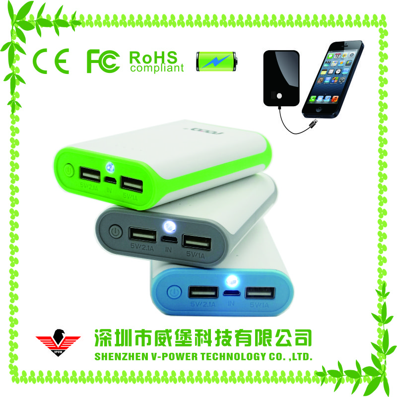 Hot selling OEM&ODM 18650 mobile power bank charger 6000mah with flashlight