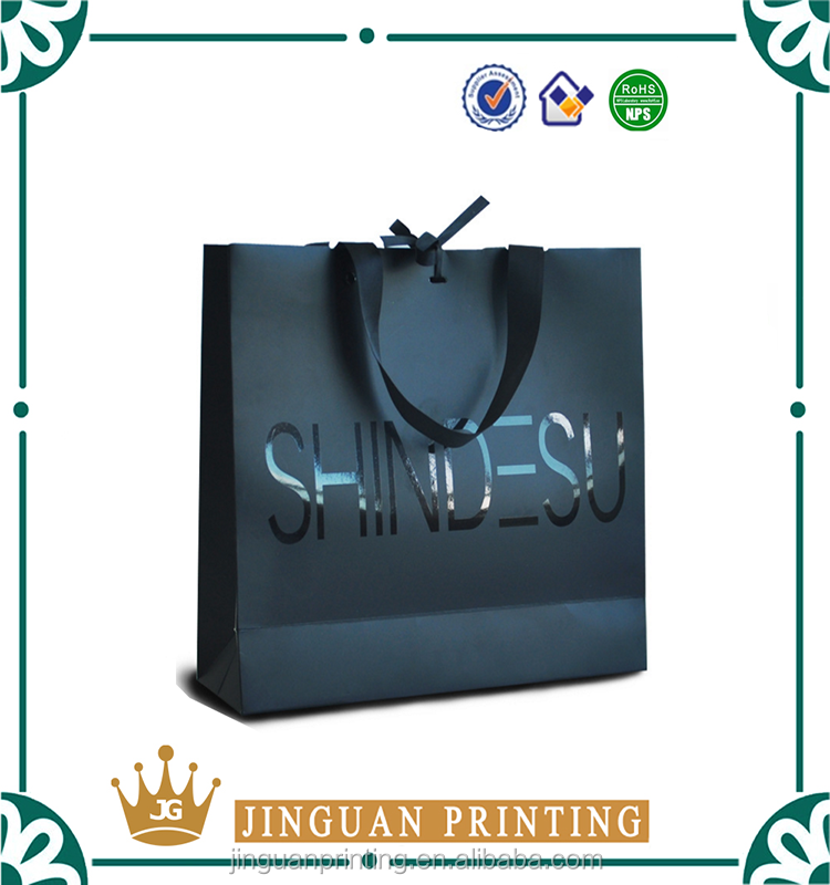 2016 new design luxury cosmetic packing paper bag wholesale