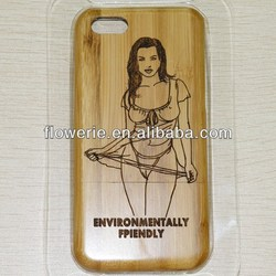 FL2848 2013 Guangzhou hot selling sexy girl bamboo wood case cover for iphone 5c