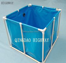 Flexible and portable PVC plastic scaffolding water tank 700L-10000L
