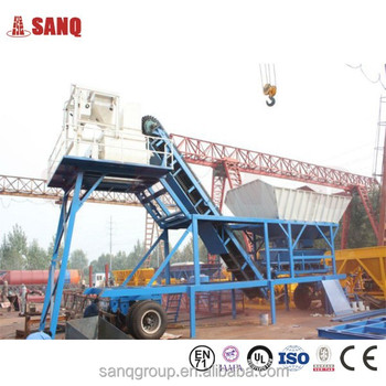 Capacity 35 Cubic Per Hour Used In Small Sized Mobile Concrete Batching Plants