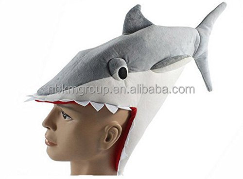 Funny Multicolor Halloween Festival Party Creative Shark Costume Hat