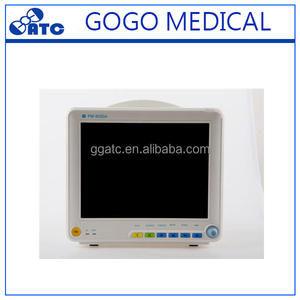 Hospital use cheap multiparameter patient monitor with trolley portable vital signs monitor