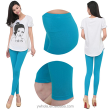 Wholesales Plain Solid Color Women Slim Stretchy Skinny Modal Cotton Leggings