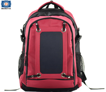 Multi-Compartment Waterproof Solar Laptop Backpack with Removable solar panel, Outdoor hikking backpack