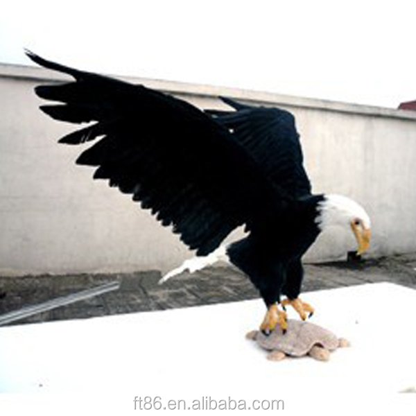 lifelike animated life size animal plush realistic large outdoor eagle statues