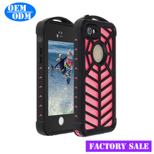 For iPhone SE/5/5s Ultra Thin Sim IP68 Waterproof Shockproof Dust proof Case PC TPU Silicone Case