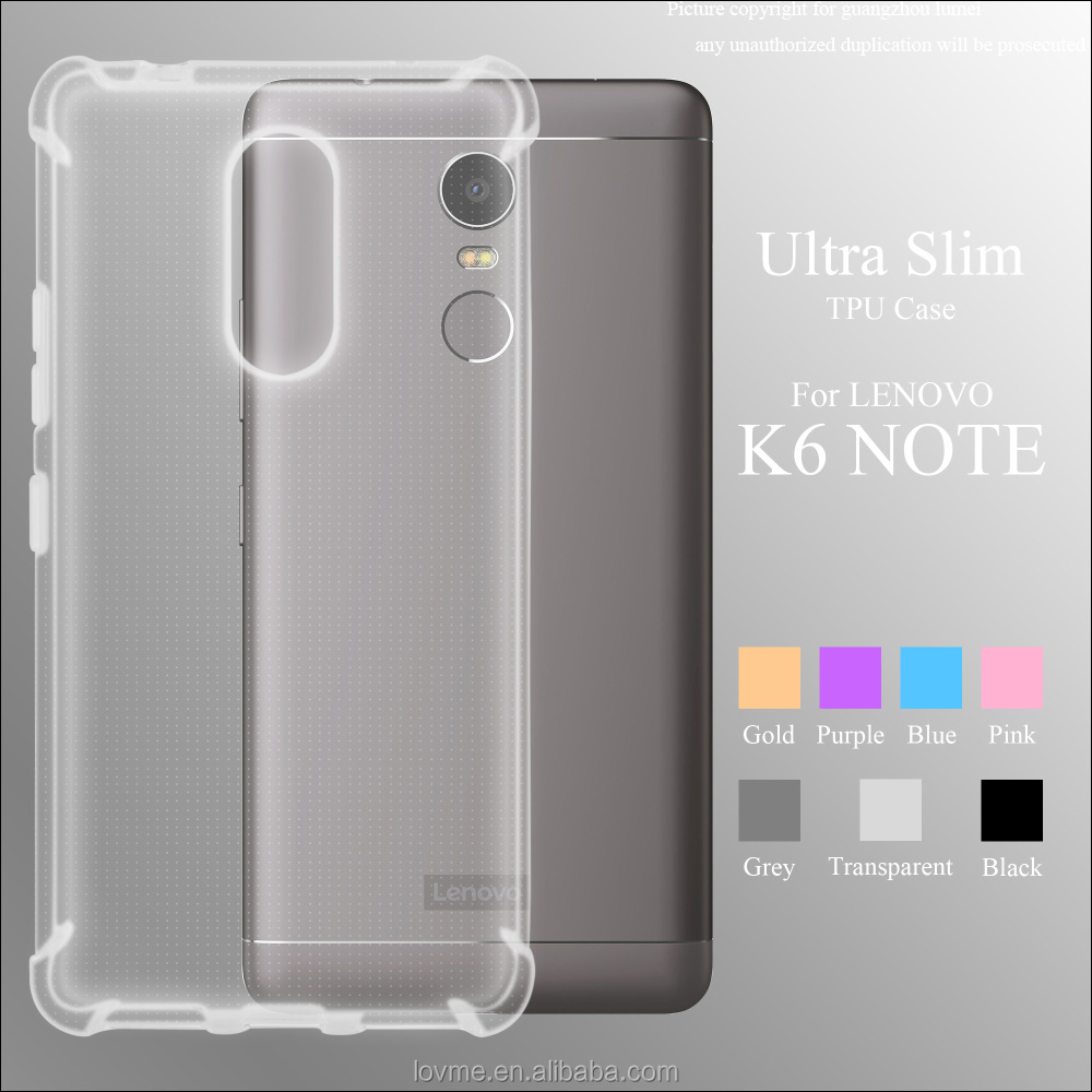Ultra Slim Shockproof Clear Soft TPU Phone Case Back Cover for Lenovo K6 Note