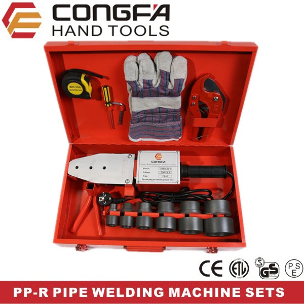 ppr hdpe plastic pipe heating joint fusion welding machine