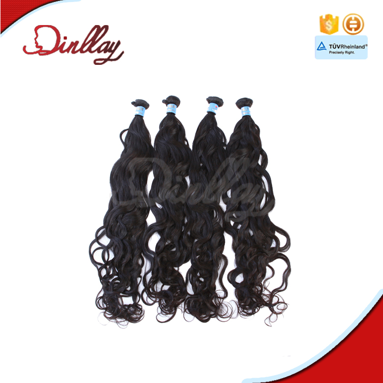 Best quality factory in Qingdao remy natural wavy long hair weft