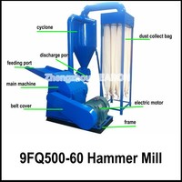 Diesel Engine Agricultural Waste Straw Hammer Mill for Poultry Feed, 9FQ500-40 Hammer Mill for Agricultural Waste