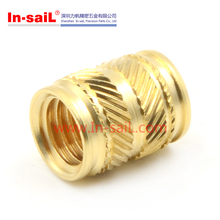 Ultrasonic and Heat Staking Brass Knurled Insert Nuts