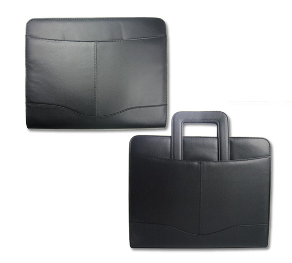 wholesale new custom folder A4 business PU leather portfolio