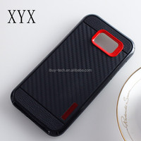 Low price carbon fiber back cover pc tpu case for Samsung A5 2017 HK Expo Booth No 11K20