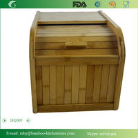 DX005/ Bamboo Oddment Rice Rolltop Rolling Box Storage Bin