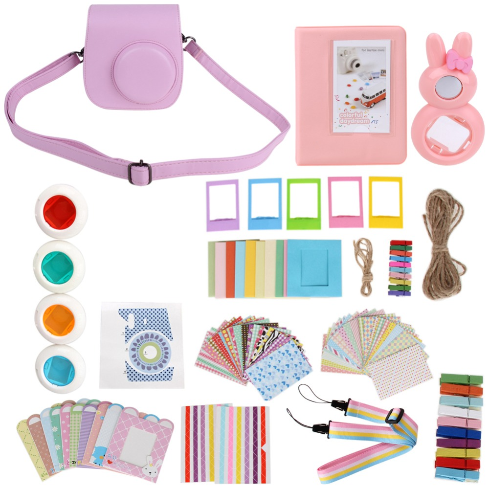 11 in 1 Instant Film Camera Album Bundles Set Camera Bag Album Filters Frames for Fujifilm Instax Mini 8 Camera Accessories