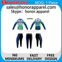china factory custom sublimated long sleeve cycling wear New Style Cycle Wear for adult