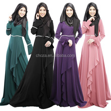 C21816B Wholesale 2015 Ankle Length Ladies Long Sleeve Morocco Muslim Kaftan Evening Dress Cheap Abaya