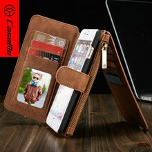 Luxury Genuine Real Leather Wallet Stand Flip Case with Card Slot for iPhone 4/4s , 5/5S, 6/6 Plus,6s/6splus