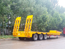 tri-axle low bed semi trailer /gooseneck horse trailer