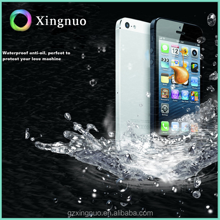Anti-finger print tempered glass screen protector for iphone4 for iphone 5