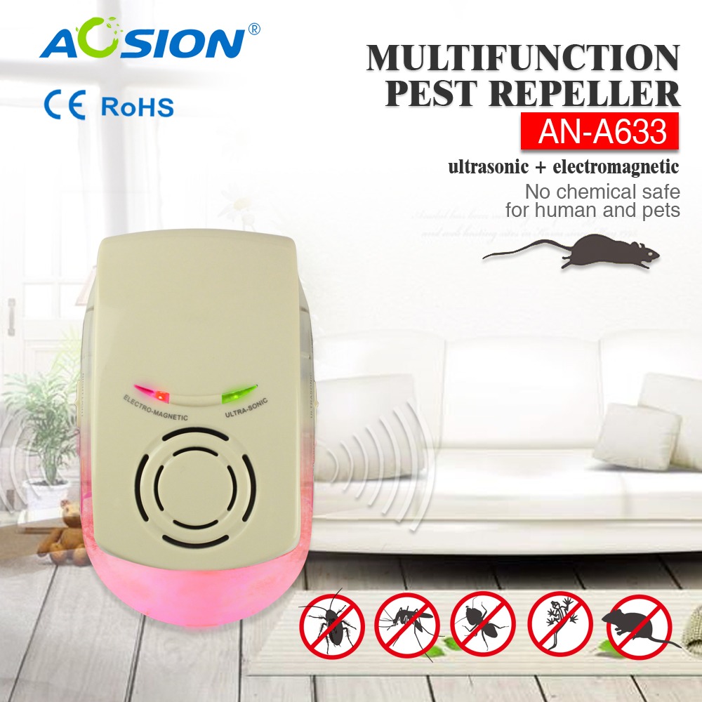 Aosion Ultrasonic Pest electronic mouse repeller anti mosquito Electromagnetic fly killer AN-A633
