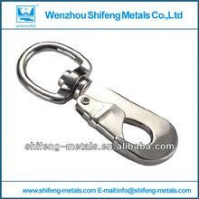 zinc alloy carabiner snap with swivel