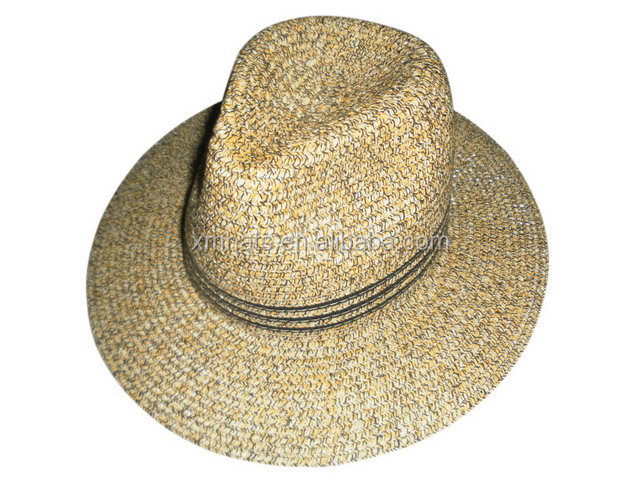 China gold supplier hotsale paper straw panama hats for men