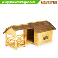 European style custom nature wood dog house