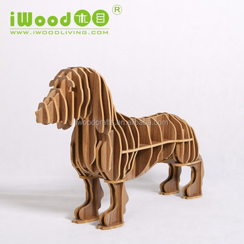Creative sausage dog shape wood carving bedroom furniture