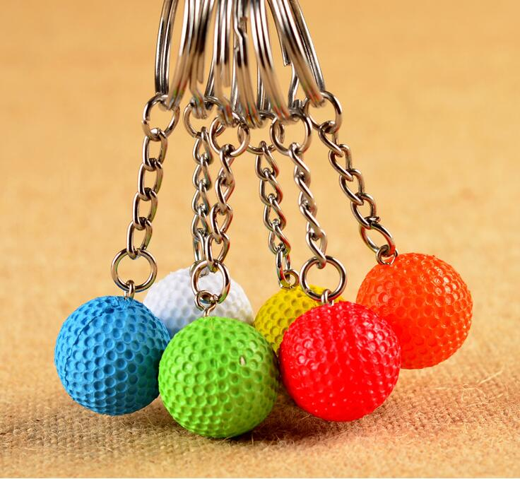 2017 design Plastic ball key chain
