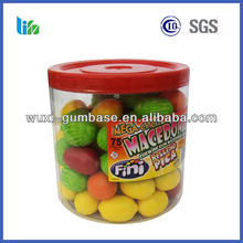 Hot selling dragee round shape bubble gum dragees tutti-frutti bubble gum