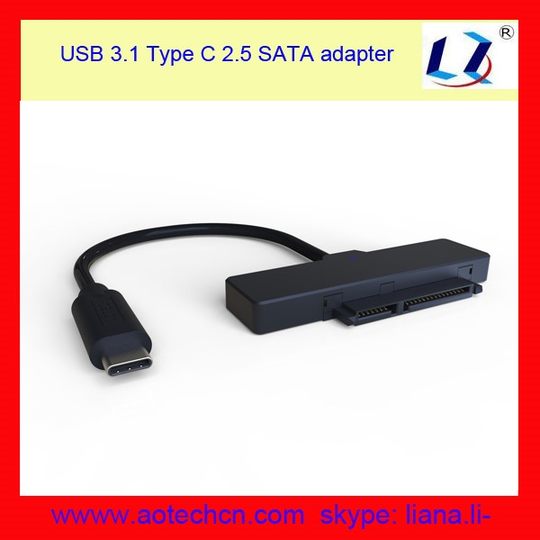 USB 3.1 GEN 2 Type C SATA 7+15 pin Adapter Cable for laptop ssd hdd