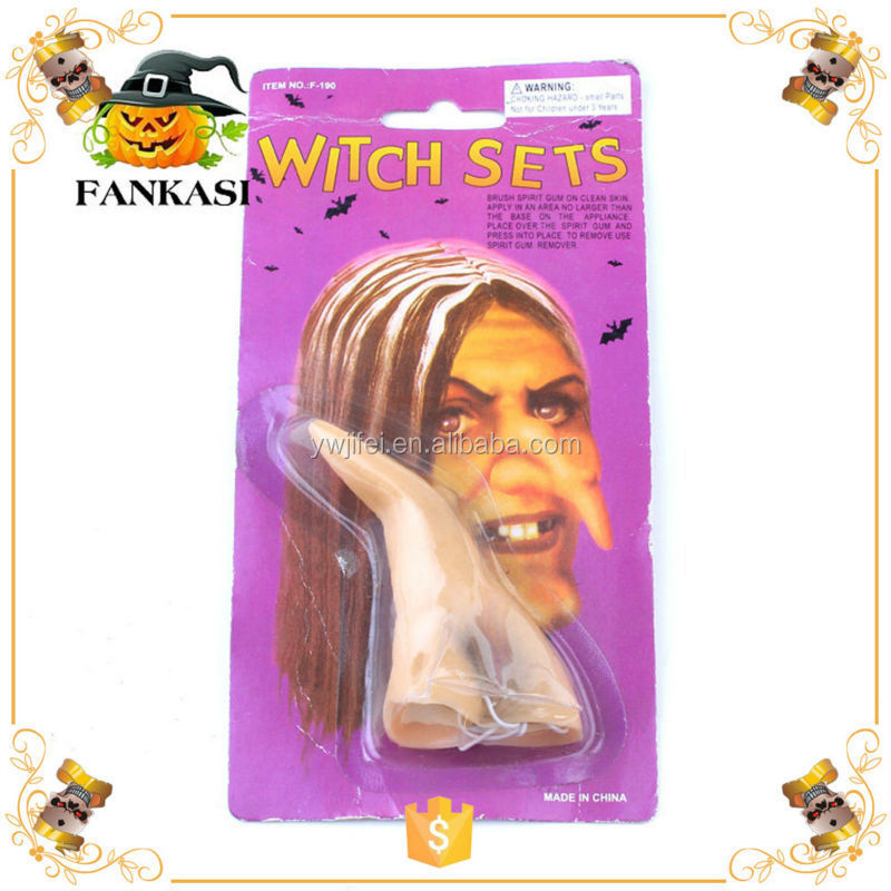Long Witch Fake Nose for Halloween Party Decoration
