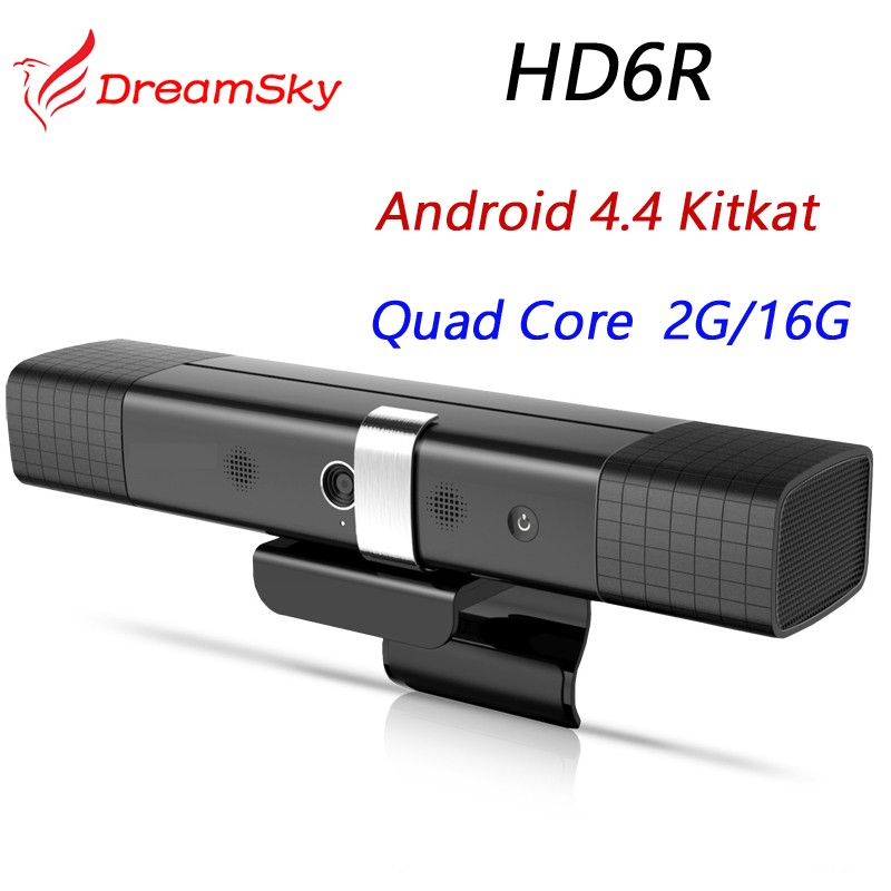 HD6R Full HD Android 4.4 Smart TV Box RK3188 Quad Core 2G/16G Built-in HD AF Camera&Dual Mic and dual Speaker HD6 Media player