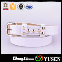 New Fashion Women's Small Size Beaded Pu Leather Belt