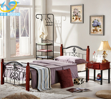 Hotel single bed modern design wrought iron bed frame